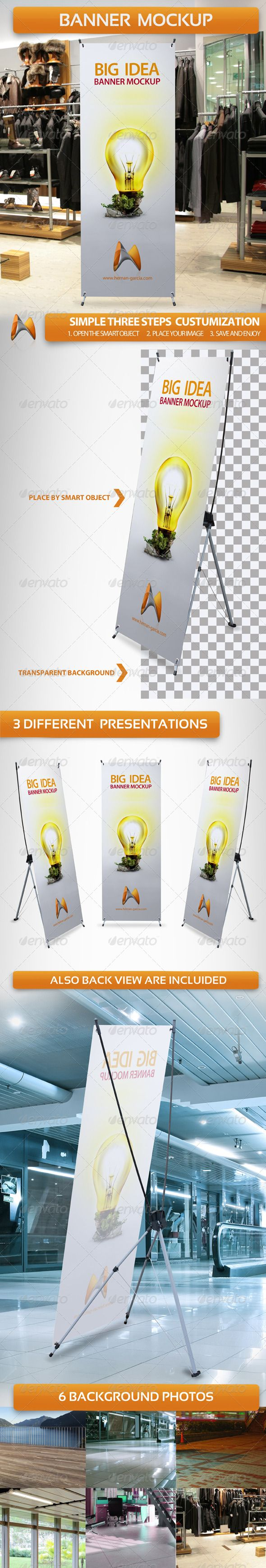 Free Pop Up Exhibition Stand Mockup : X banner mockup graphicriver this mock up helps you to