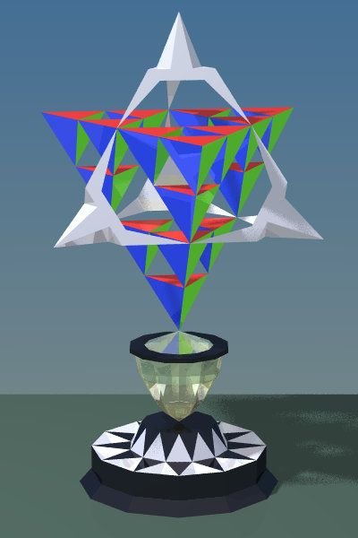 Image result for tetrahedron trophy