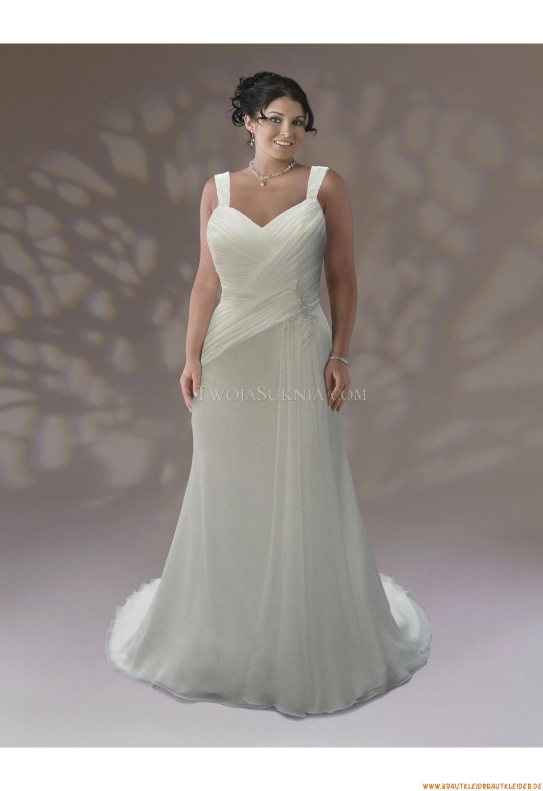 Reißverschluss  Bodenlang Günstige Schlichte Brautkleider