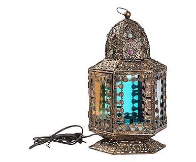 Lampada da tavolo in vetro Colors multicolor, 20x40x20 cm