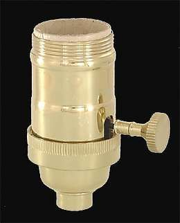 3 Way Heavy Duty Solid Turned Brass Socket Antique Lamp Supply