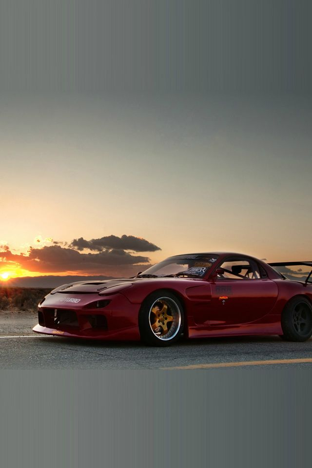 Mazda Rx7 Sunset Iphone 4s Wallpaper Iphone 4s Wallpapers