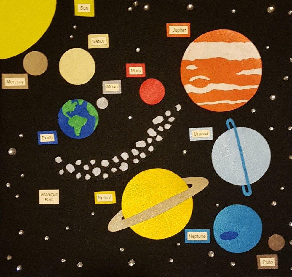 Felt Solar System Feltboardstory Feltsolarsystem Felt Books