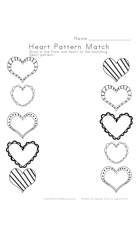 Magnificient Math Creative Preschool Resources Heart Patterns Preschool Worksheets Preschool