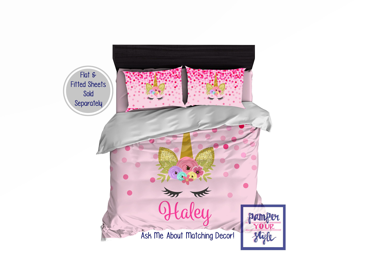Unicorn Personalized Bedding Unicorn Magical Bedroom Decor