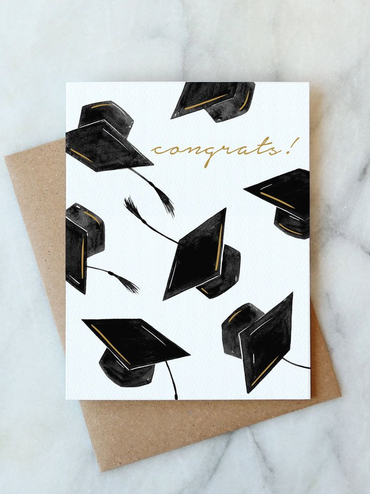 Photo of Grad Hats Congrats Card — Abigail Jayne design