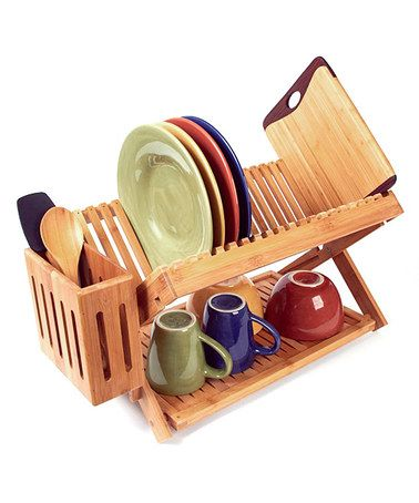Look what I found on #zulily! Dish Rack by Island Bamboo #zulilyfinds