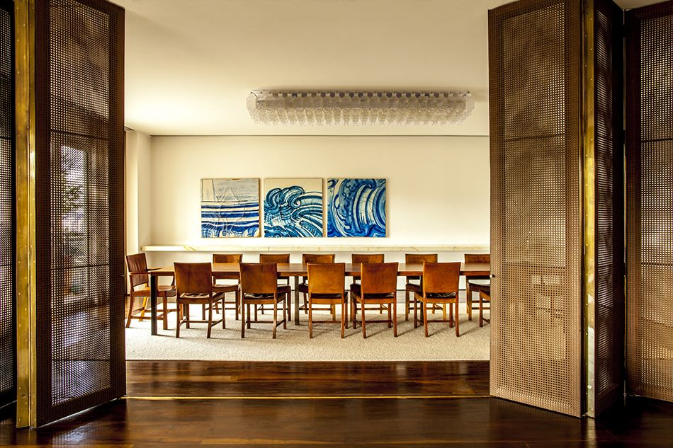 Isay Weinfeld dining room in Brazil