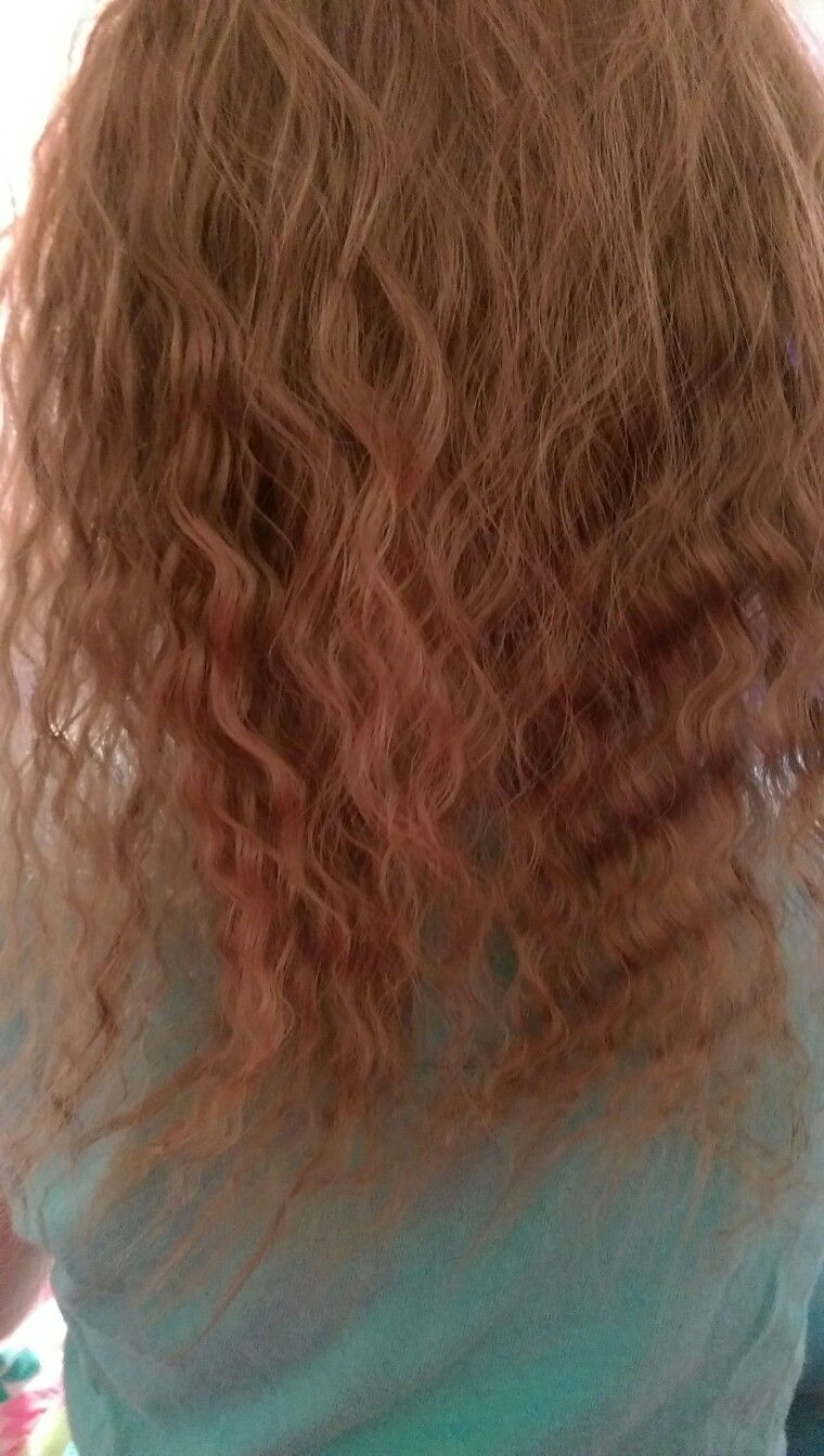 Fresh out of a french braid