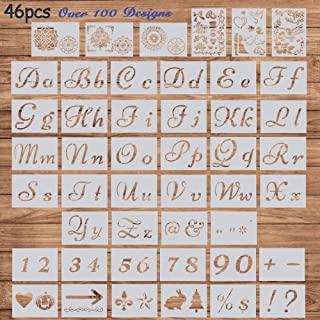 Amazon Ca Cursive Letter Stencils In 2020 Letter Stencils Stencil Letters On Wood Letter Stencils Diy