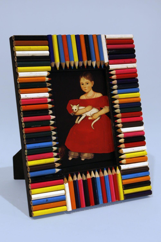 Colored pencil picture frame photo credit sam fein