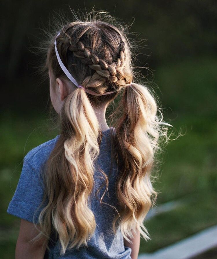 Two French Braid Cross Ponytails (With Images)