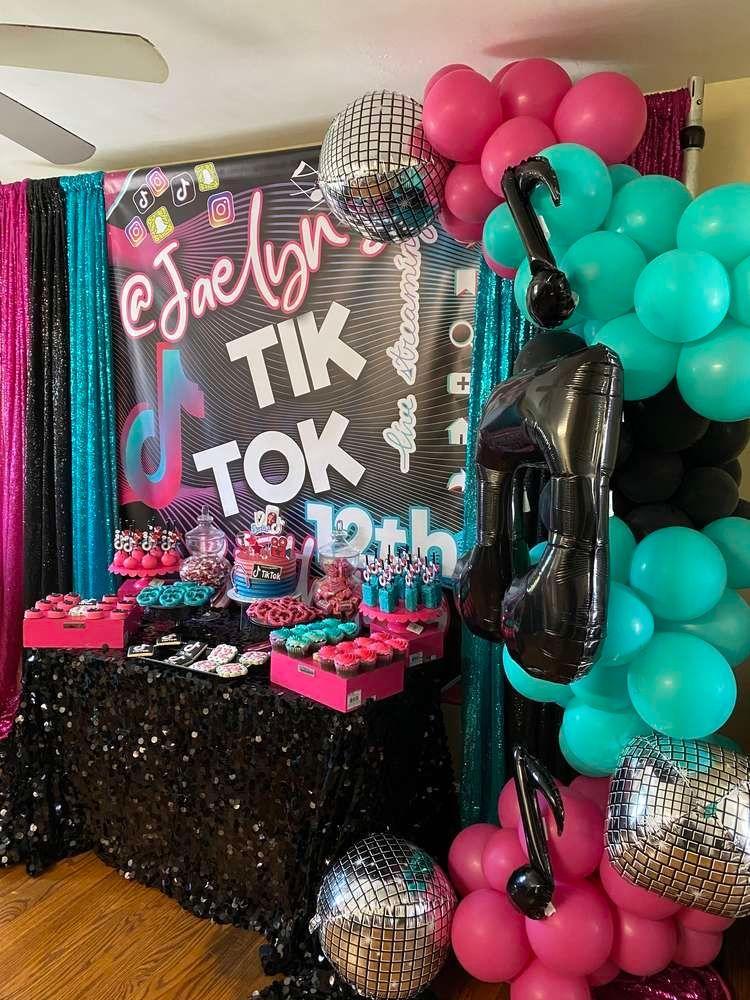 Tik tok Birthday Party Ideas Photo 2 of 10 in 2020