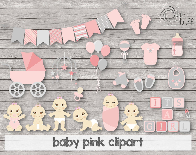 Imagendes de baby shower, bebes niñas, bebes rosa de DulsStuff en Etsy