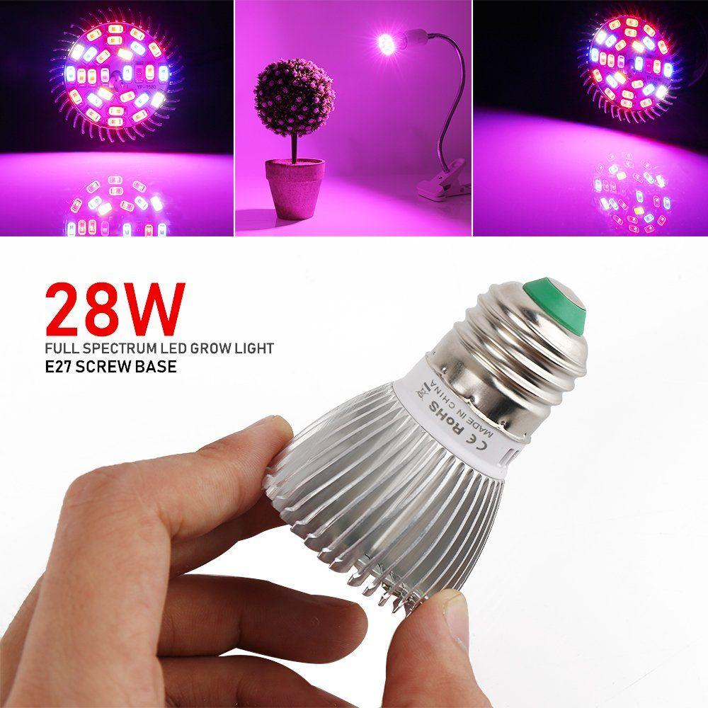 Mrj 3 Pack 28w Full Spectrum Led Grow Light Bulb E27 Gu10 Grow Plant Light For Hydroponics Greenhouse Org Led Grow Light Bulbs Led Grow Lights Grow Light Bulbs
