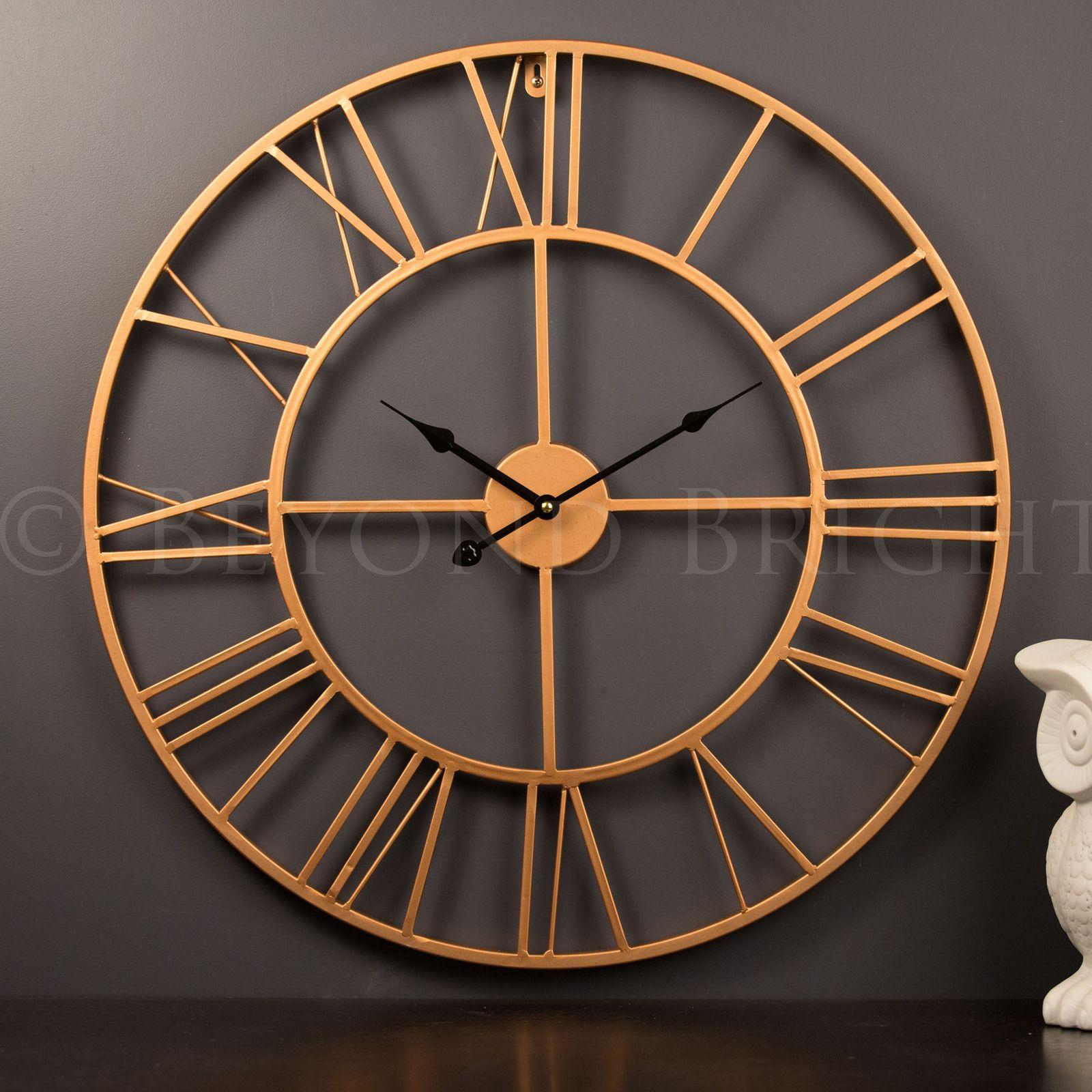copper 60cm wall clock industrial clocks large metal on wall clocks id=30033