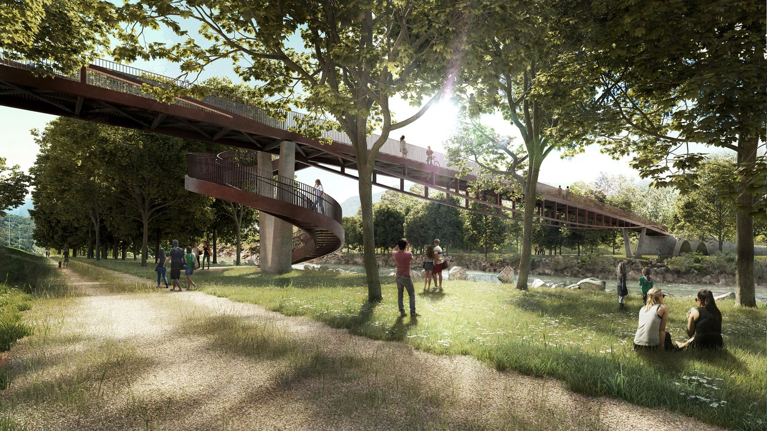 Gallery Of AZPML DFN Win Competition For Rippling Bridge In