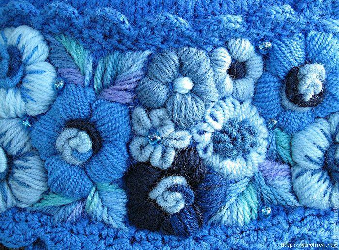 вышивание по вязаному полотну