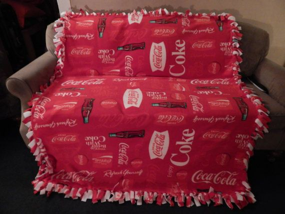 No Sew Coca Cola Fleece Blanket With A White By Harminysplace