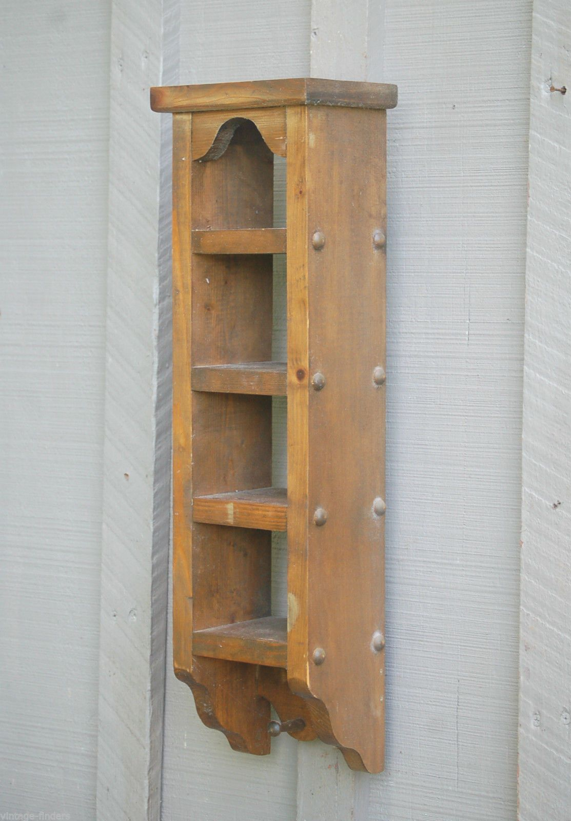 Details About Vintage Country Style Wall Hanging Wooden Shelf For