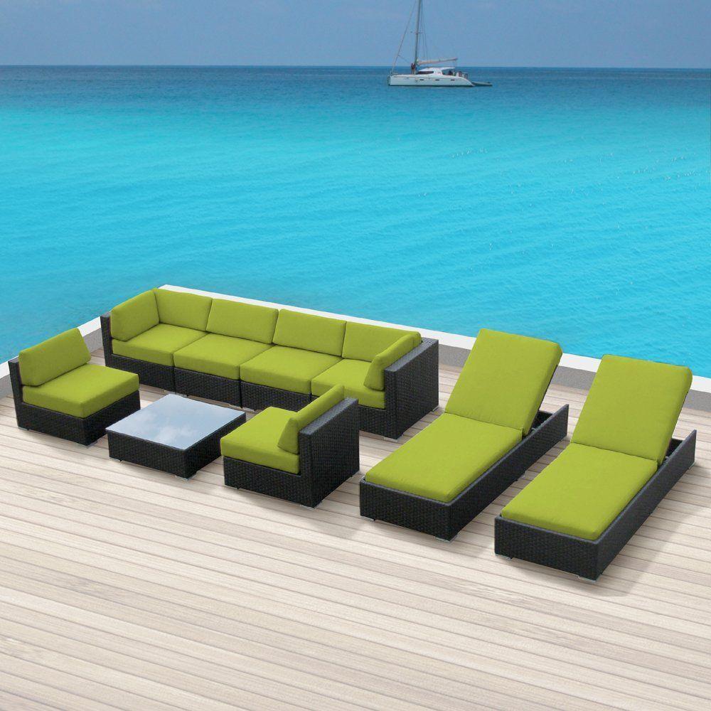 amazoncom patio furniture. Amazon.com : Luxxella Outdoor Patio Wicker BELLA 9 Pc Peridot Sofa Sectional Furniture All Amazoncom A