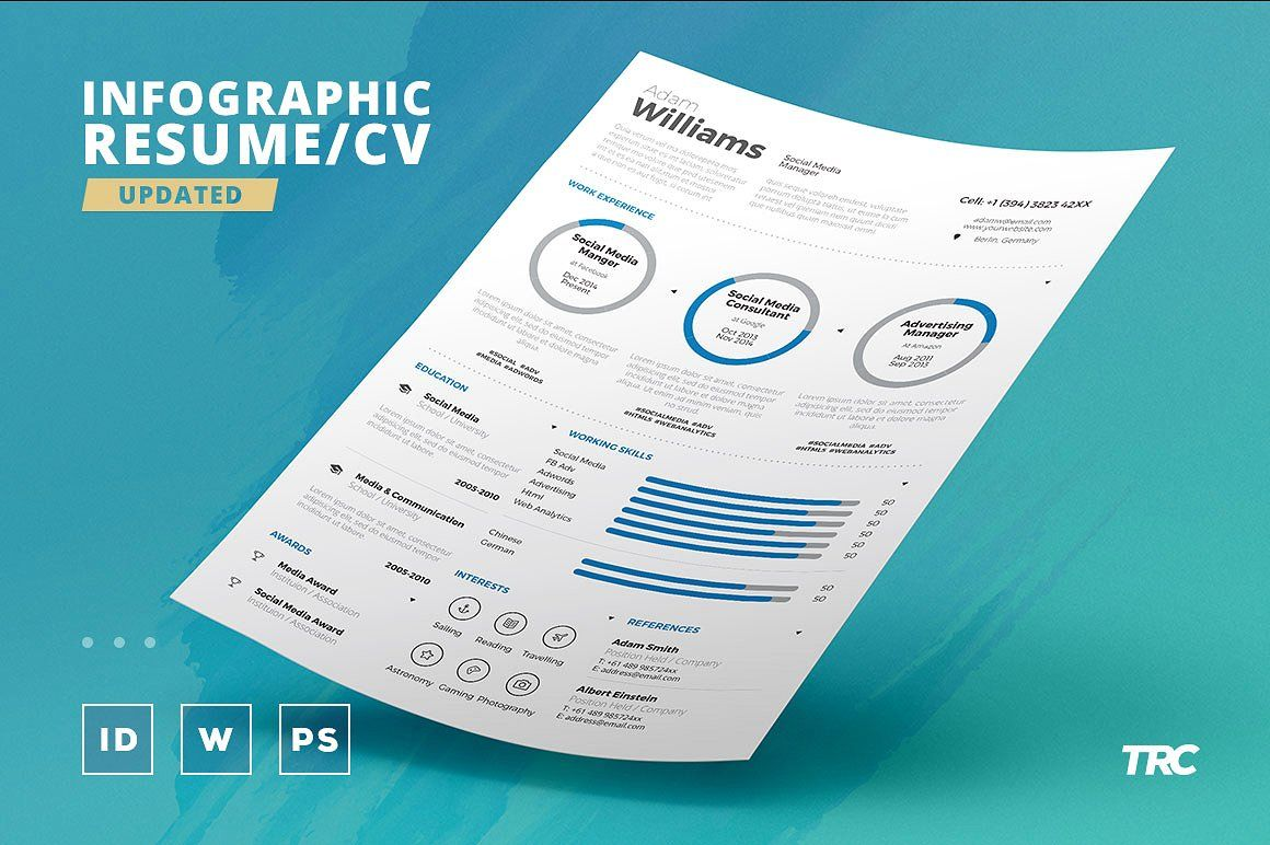28 Amazingly Modern Creative Examples Of Resumes Infographic