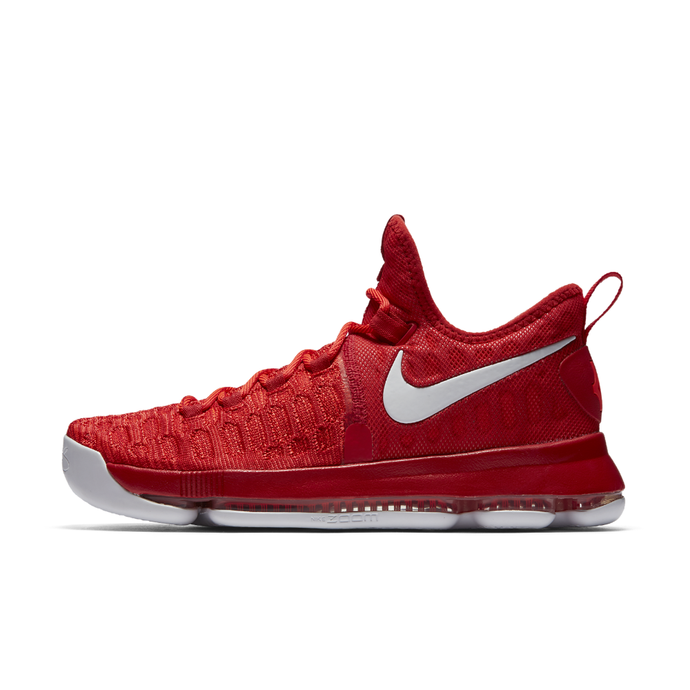 low cost dd7d0 09769 Nike Zoom KD 9 Men s Basketball Shoe Size 10.5 (Red) - Clearance Sale