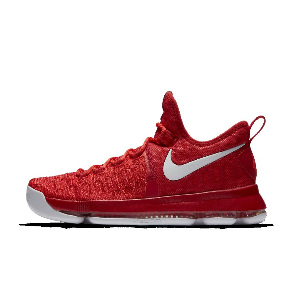 pretty nice e26f1 3441c Nike Zoom KD 9 Men s Basketball Shoe Size 7.5 (Red) - Clearance Sale