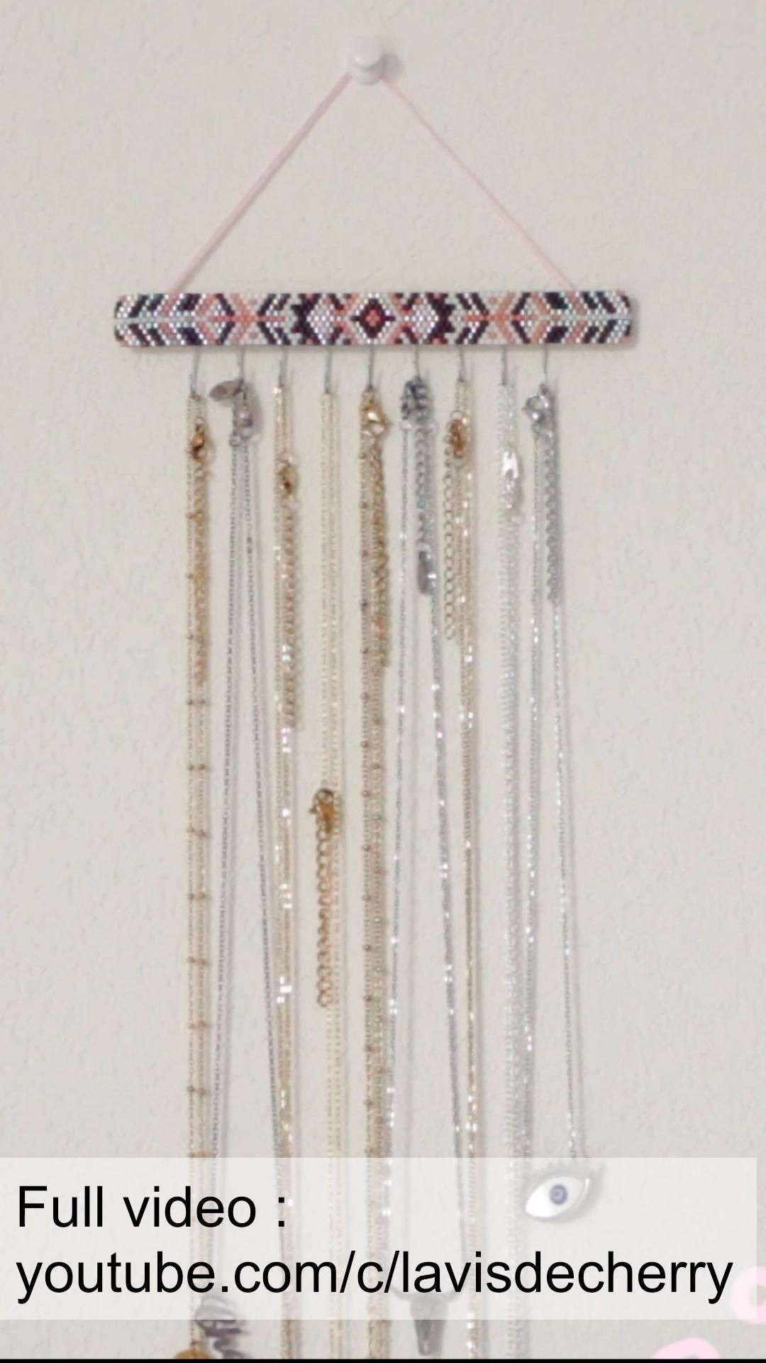 DIY rangement bijoux colliers