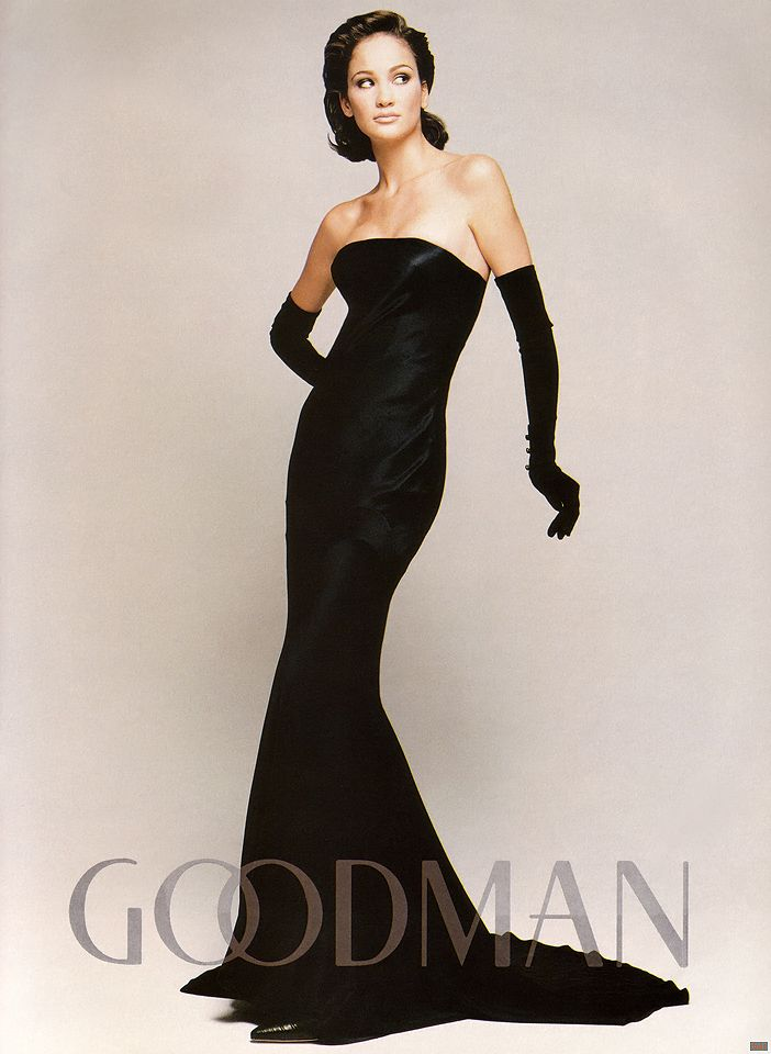 Strapless Dress and Opera Gloves