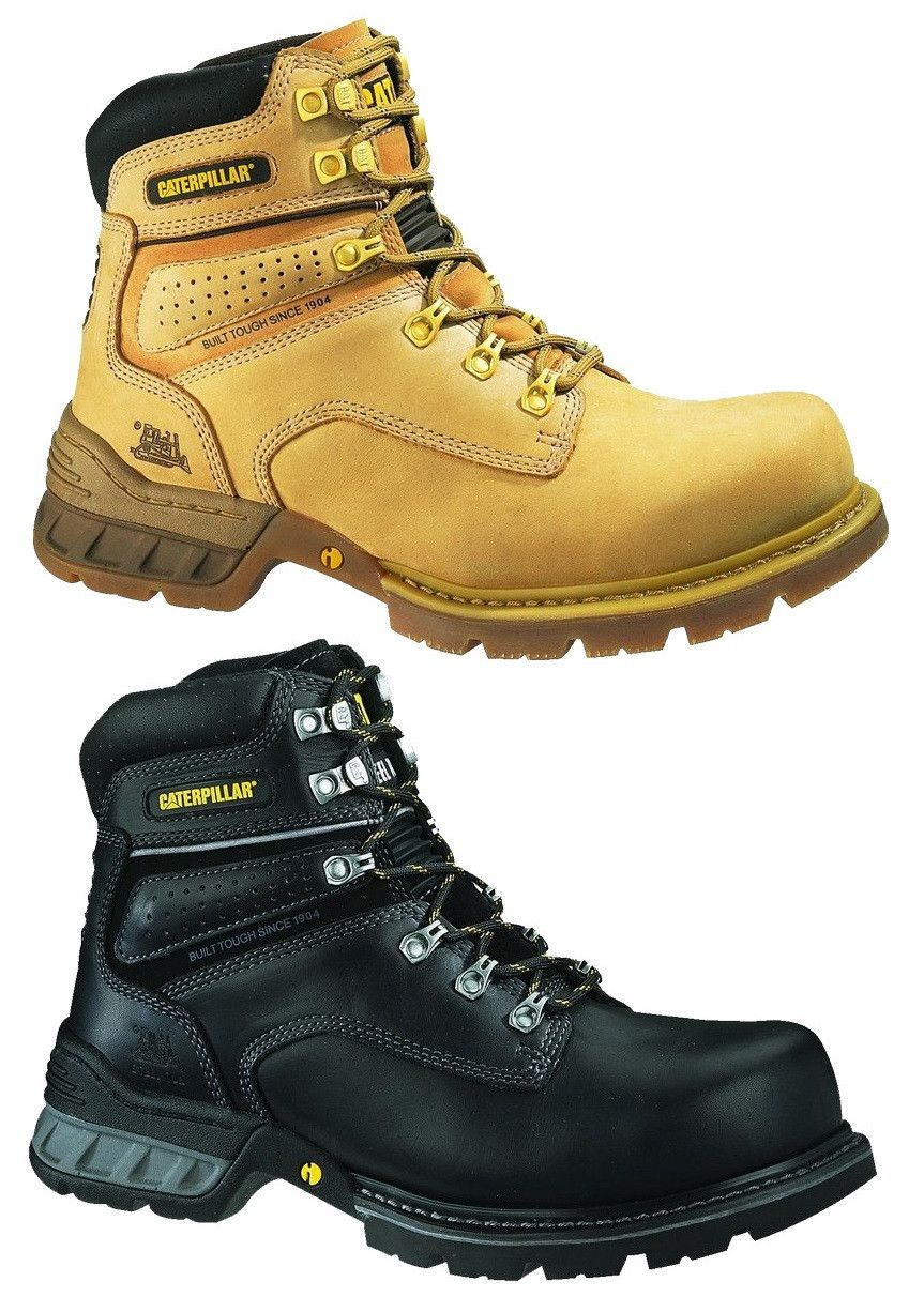 CATERPILLAR CAT FOUNDATION MENS STEEL TOE WORK/SAFETY BOOTS/SHOES ...
