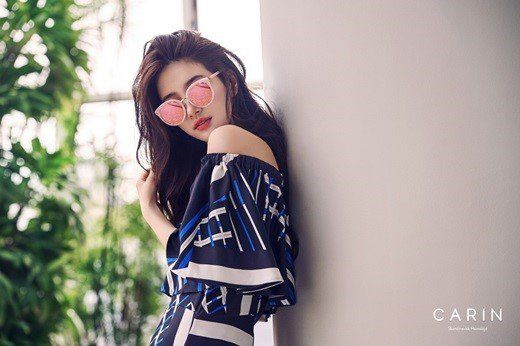 Suzy models a gorgeous summer look with glasses brand 'Carin'   allkpop.com