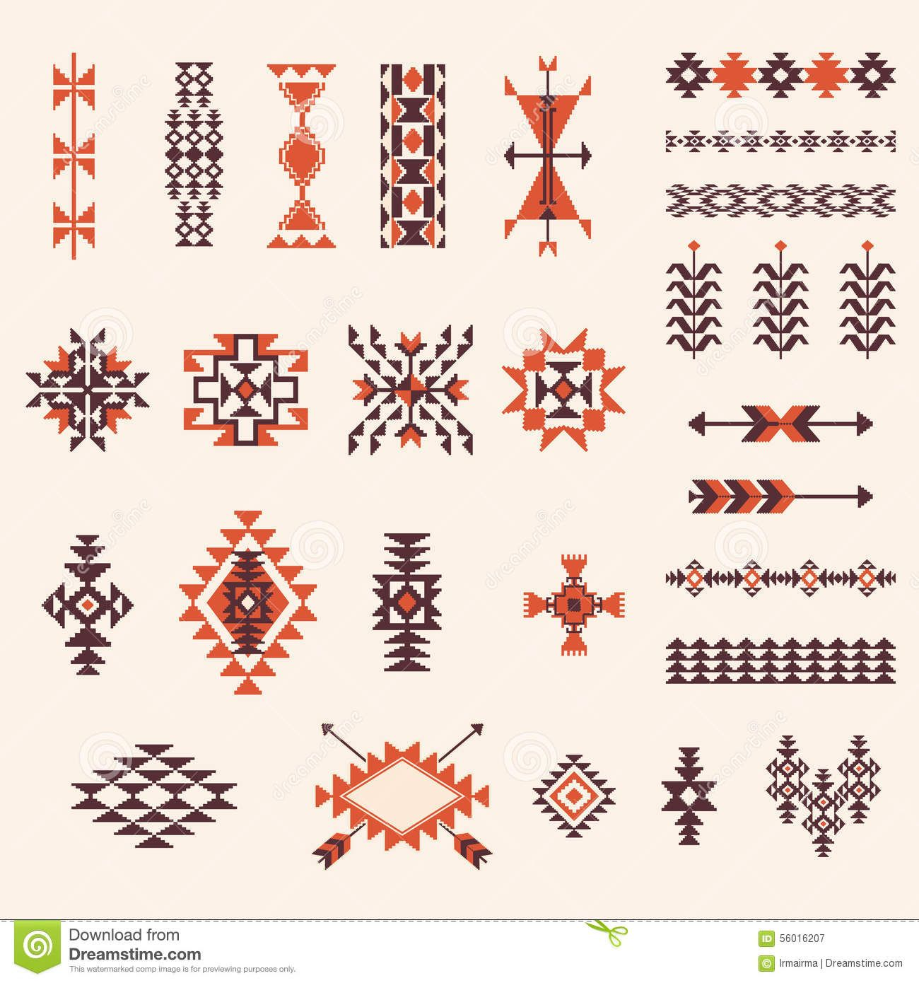 Native American Navajo Aztec Pattern Vector Set Download