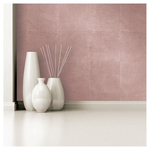 Metallic Leaf Peel Stick Wallpaper Pink Project 62 Rose Gold Painting Peel And Stick Wallpaper Gold Accent Wall
