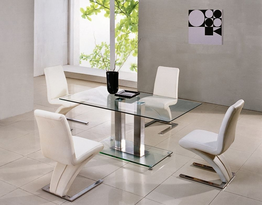 Savio Small Rectangular Gl Chrome Dining Table Only 4 Colours 120 Cm Ij895