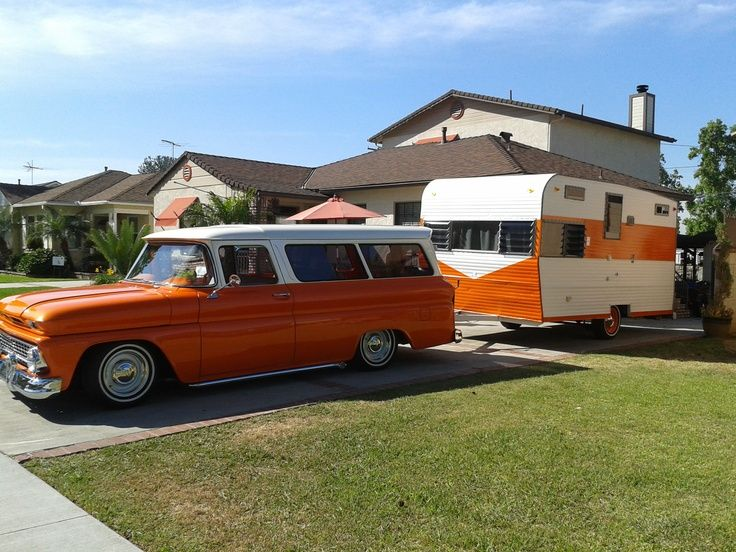 1963 suburban & 1969 Deville 13 ft travel trailer
