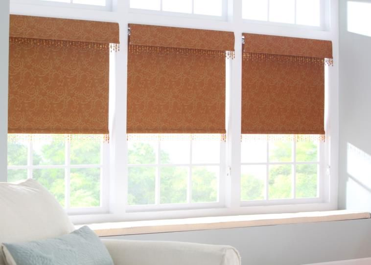 Soft Roller Shades With 6 Classic Valances And Decorative