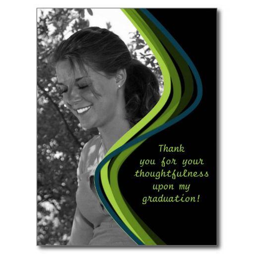customizable photo  graduation thank you card  zazzle