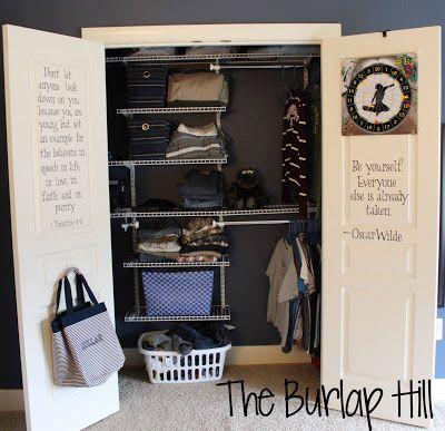The Burlap Hill: An Organized Teen Closet