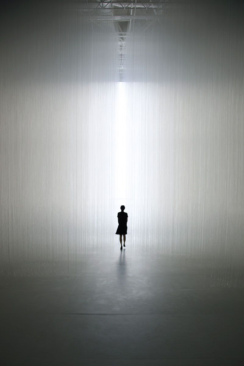 The Gate by TOKUJIN YOSHIOKA. #lightartinstallation