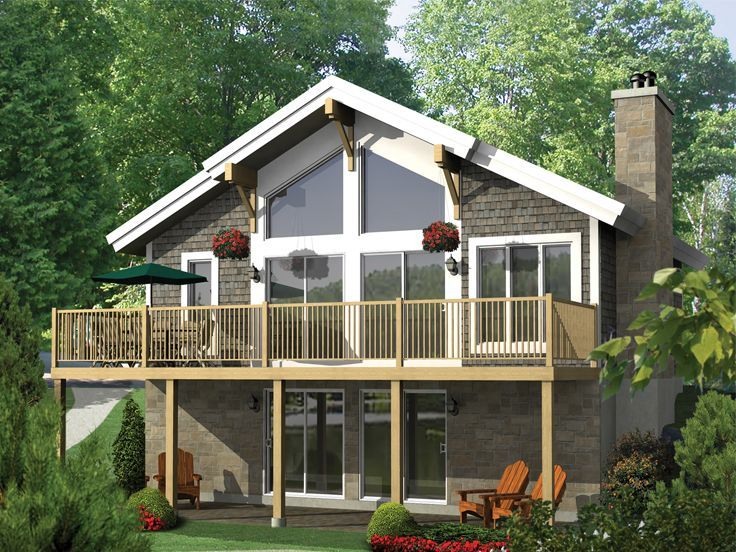 072h 0183 Cozy Waterfront House Plan Cottage Plan Cottage House Plans Vacation House Plans