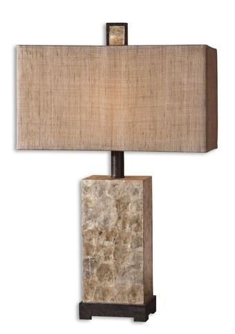 Rustic Pearl Shell Lamp 27347 Contemporary Mother Of Pearl Design By  Uttermost Lamps. Pearl Table