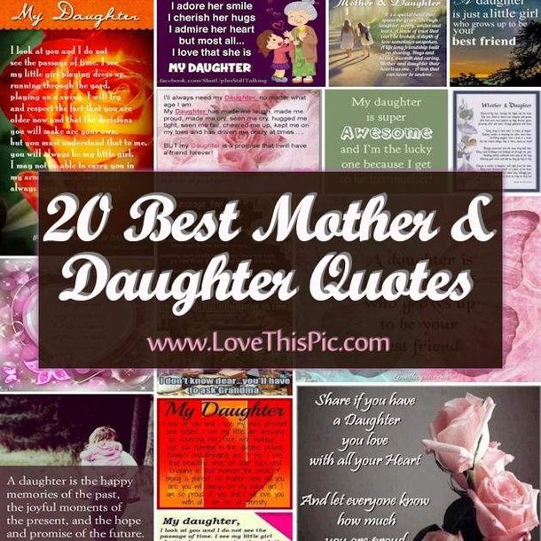 Quotes About Mother And Daughter: 20 Best Mother And Daughter Quotes