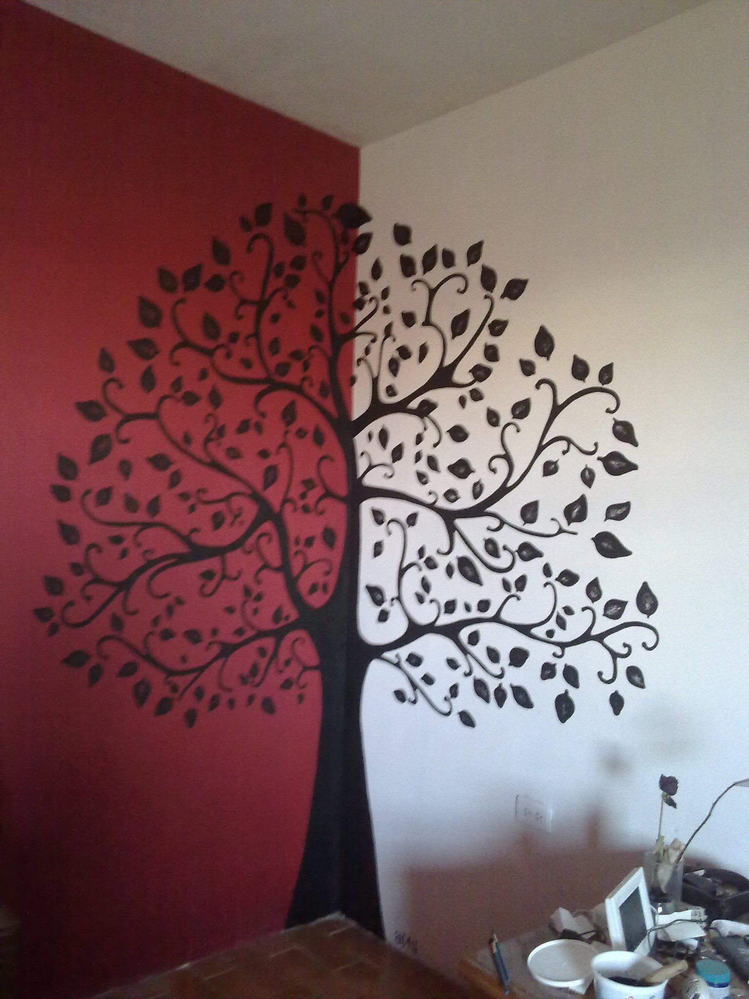 Pintura Plateada Para Pared Arbol En La Pared Others Murales Pared Arboles En La