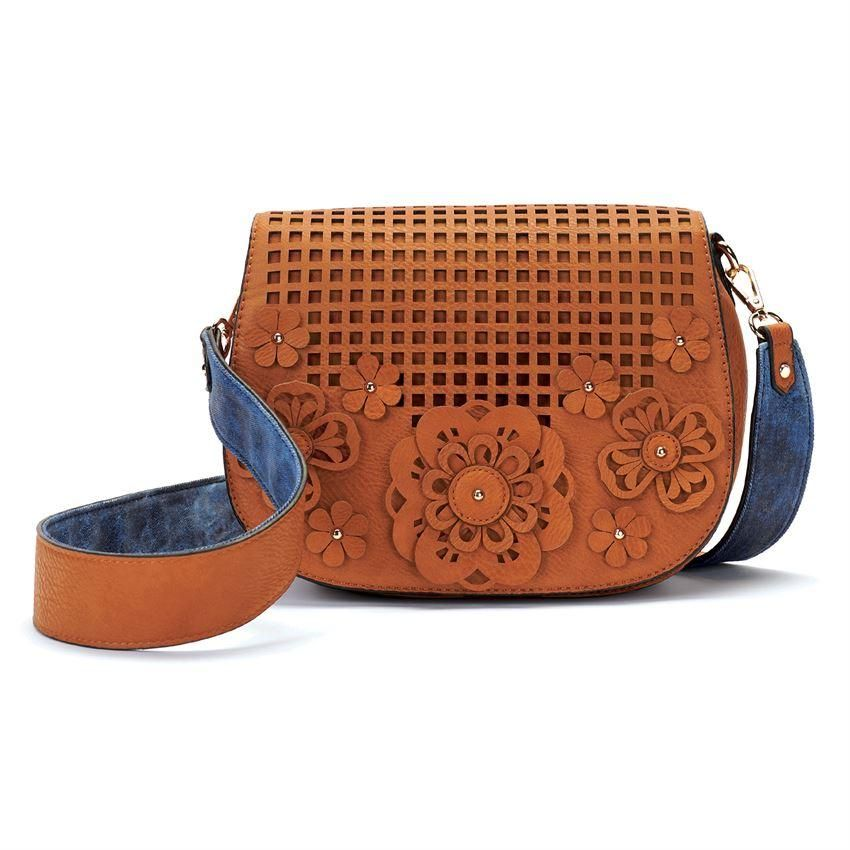 Coco Navy Floral Carmen Florence Patchwork Crossbody