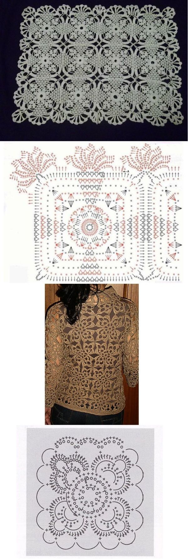 lacy crochet motifs - these are quite pretty! by dimitra.dimitriadou ...