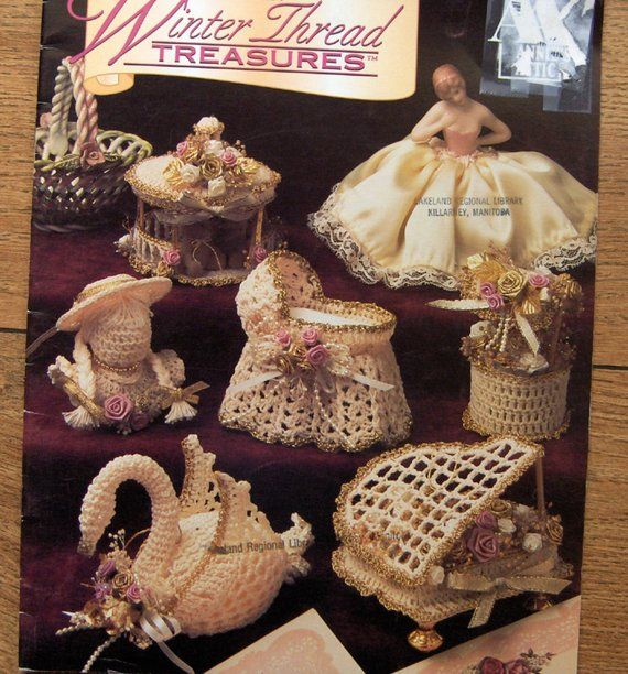 vintage 1994 crochet patterns Winter Thread Treasures  ornaments christmas beautiful unique #traditionellesdekor