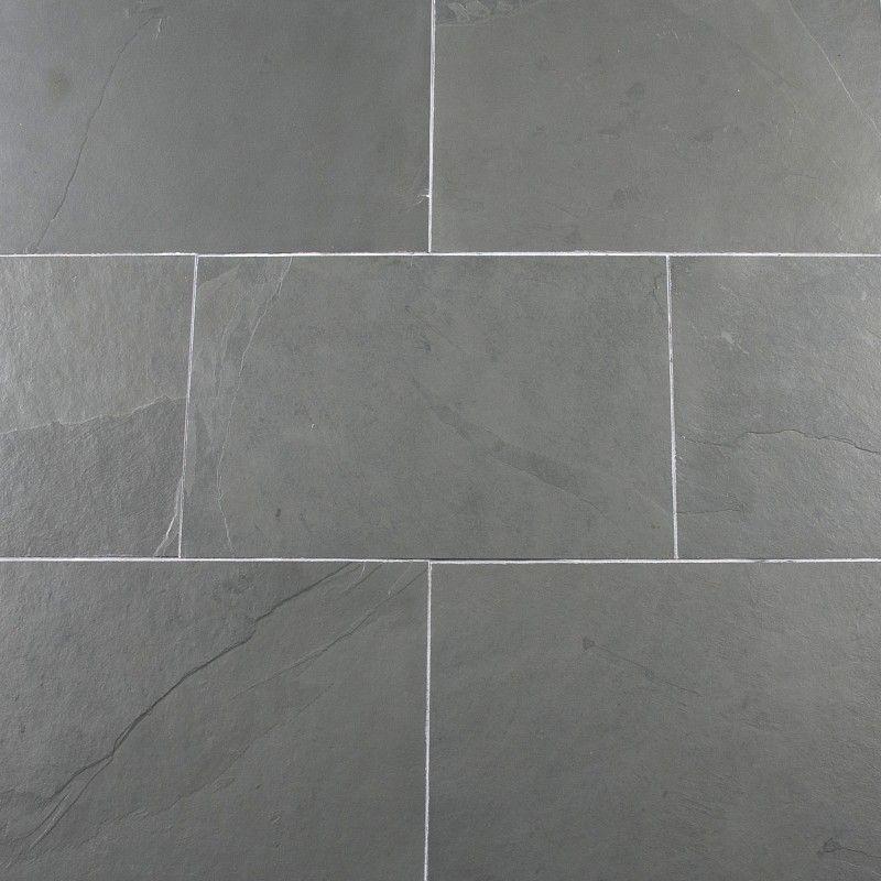Calibrated Brazilian Grey Riven Slate 300x300x10 Calibrated Slate