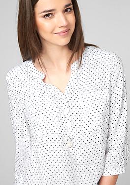 Viscose blouse met een kleine print in het s.Oliver Online Shop