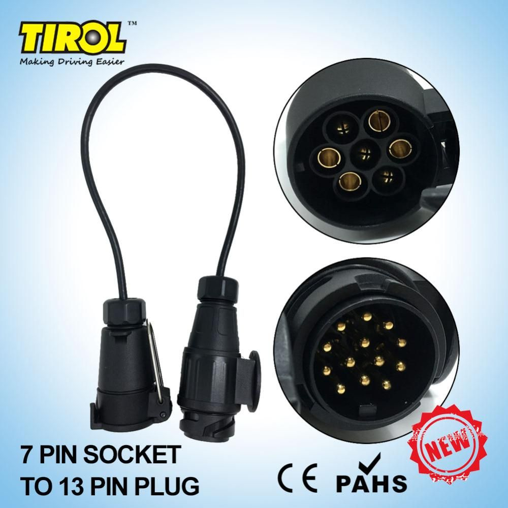 hight resolution of tirol new 7 to13 pin trailer with cable adapter wiring connector 12v towbar plug socket t22468b yesterday s price us 10 01 8 98 eur